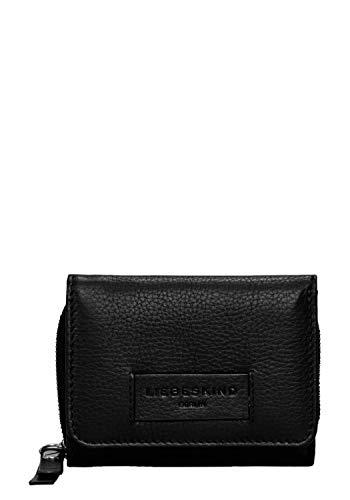Liebeskind Berlin Damen Essential Pablita Wallet Medium Geldbörse, Schwarz (Black), 2x9x11 cm