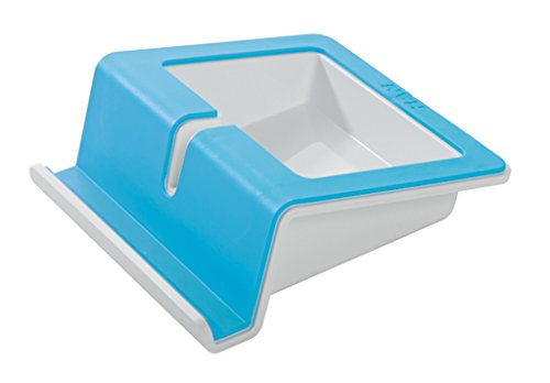 Preisvergleich Produktbild HAN 92100-44 UP Tablet Stand; mit Softgrip Oberfläche und Kabelhalterung; i-Colour blau