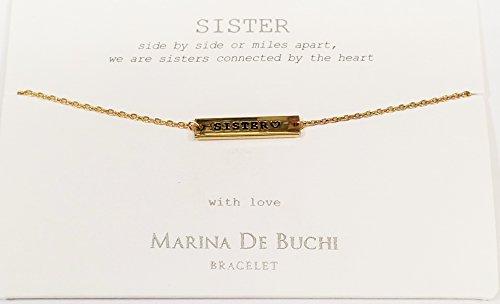 Sister Nom de Marina De Buchi Bracelet plaqué or par Sterling Effectz