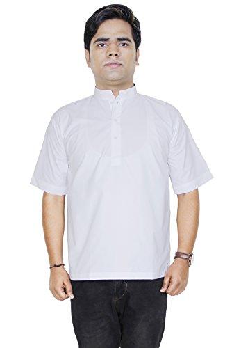 Mens bottone del colletto in jersey di cotone polo manica lunga kurta alzarsi -size l