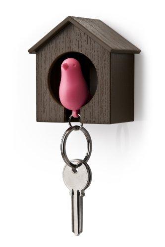 Unbekannt Schlüsselhalter, anhänger und Trillerpfeife Sparrow Key Ring - Brown/pink