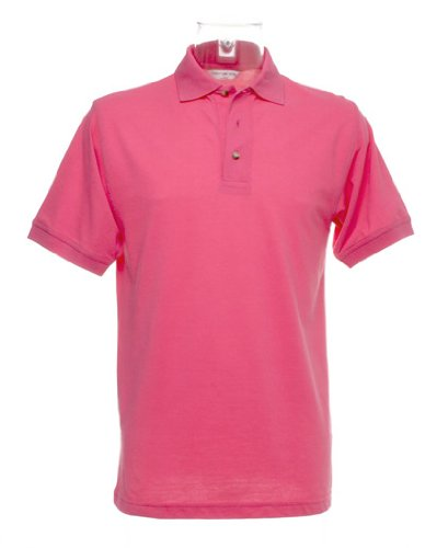 Workwear-Maglia stile polo con superwash® 60 °C Rosa - Deep Pink