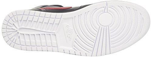 Nike Herren Air Jordan 1 Mid Basketballschuhe anthracite-gym red-white (554724-045)
