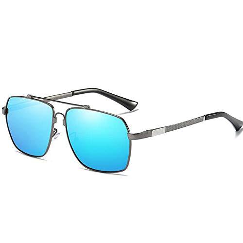 LIUQIAN Sonnenbrille Herren Männer Memory Beam Spring Legs Polarized Sonnenbrillen umweltfreundliche Bunte Blaue Film Square Sonnenbrille
