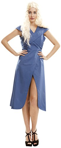 My Other Me - Disfraz de Reina Dragón para mujer, M-L, color azul (Viving Costumes 202062)