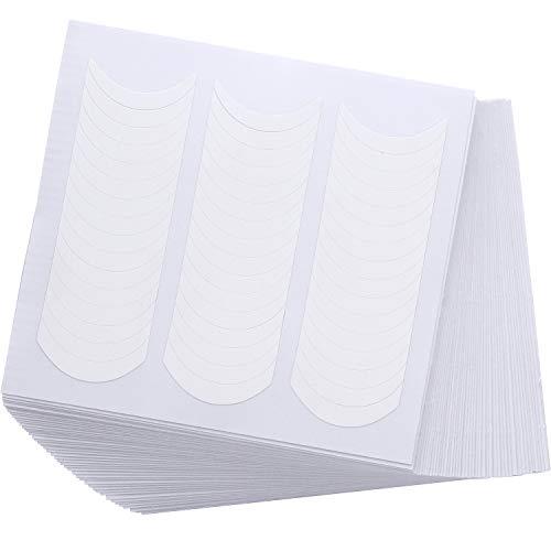 50 Hojas de Pegatinas de Uñas Francesas Plantillas de Uñas Manicurar Blancas Decoración de Arte de Uñas Pegatinas de Guía de Franja Curvada