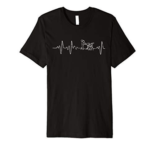 Schlagzeug T-Shirt Herzschlag Drummer Schlagzeuger Geschenk