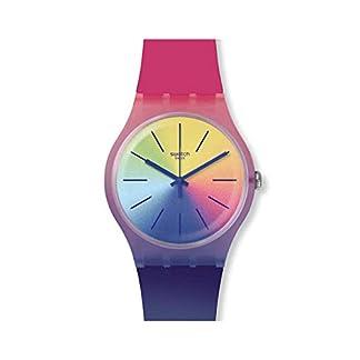 Swatch Reloj Analógico para Unisex Adultos de Cuarzo con Correa en Silicona SUOK143