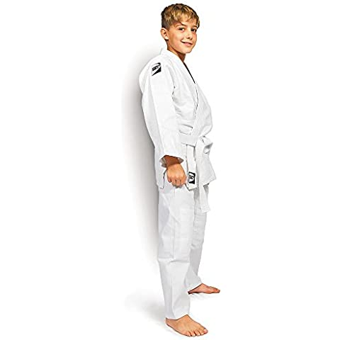 Green Hill Junior Traje de judo Kimono Gi///tamaños Selección, color  - blanco, tamaño 120