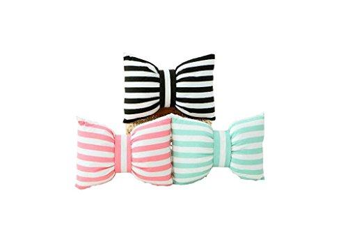 HETAO Nette Persönlichkeit Mode Design Schmetterling Krawatte Streifen Bogen Knoten Schlaf Sofa Rückenkissen Nackenkissen , green Geh ins Bett