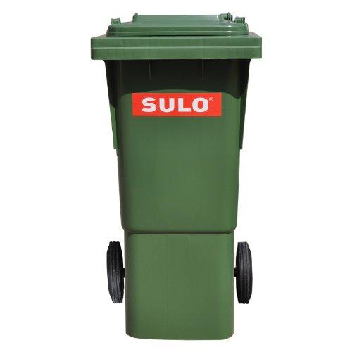 *SULO 60 Liter Abfalleimer, Papierkorb, Mülleimer, recycling Abfalleimer, Haushaltsmüll, mit Deckel, grün (22264)*