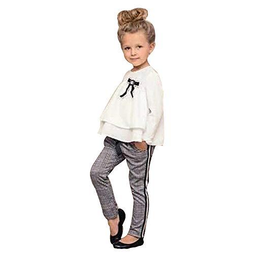 Weant Baby Kleidung Mädchen Outfits Solide Tops + Plaid Hosen England Prinzessin Partykleid Sommerkleid Prinzessin Kleid Kinder Kleider Baby Bekleidungssets Neugeborenen Bekleidungset - Solide Mädchen Kleid