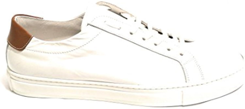 NICOLA Pelle BARBATO Scarpe Uomo scarpe da ginnastica YOX BY Pelle NICOLA Vitello col. Bianco US18NB12 2a5847