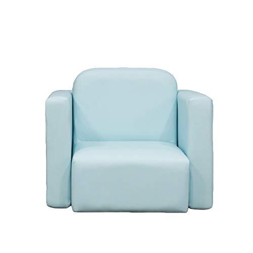 GX&XD Multifunktion Tisch und Stuhl Set,Sicher ungiftig Schaum Bequem Kinderstuhl Einzelsofa Cute Pu-Leder-gepolsterte armlehnen-Stuhl Baby und Kind-Blau -