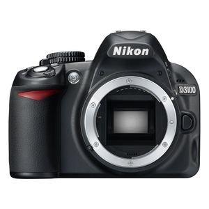 Nikon D3100 SLR-Digitalkamera (14 Megapixel, Live View, Full-HD-Videofunktion) Gehäuse (Nikon En-el14 Akku-ladegerät)