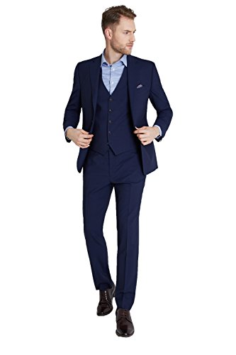3afb9086322 Lanificio F.lli Cerruti Dal 1881 Men's Cloth Tailored Fit Blue ...