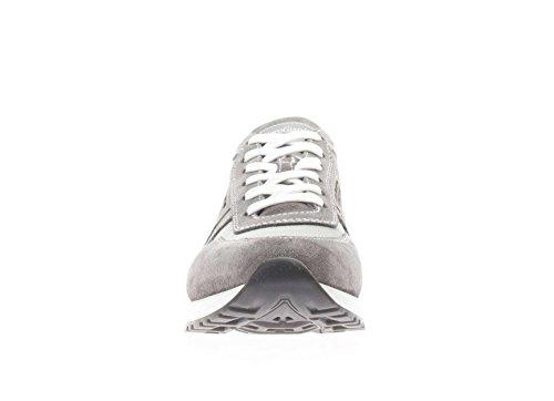 Nero Giardini Uomo Sneaker P704901U-106 Sneaker Camoscio e Tessuto Grigio