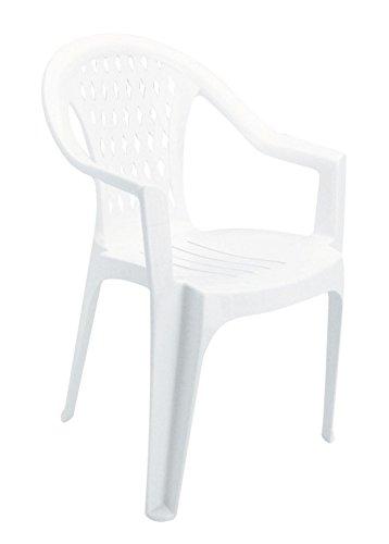 Sedie Plastica Per Giardino.Sedie Per Tavolo Da Giardino Sedia Bianca Da Giardino Impilabile