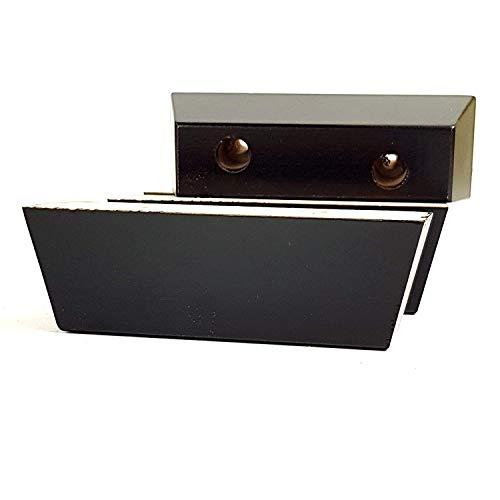 Holz Beine 40mm Hoch 4er Set Ersatz Möbelfüße für Sofa Stühle, Sofa Fußhocker Selbst Fix SOF3019 - Antik Braun, 40mm - 40 Beine Hoch Bronze