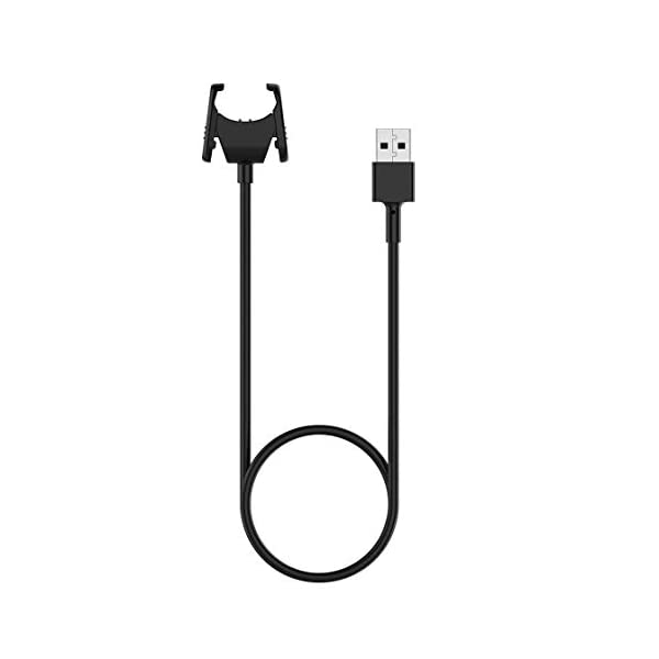 Gwendoll Cable Cargador para Fitbit Charge 3 Cable de Carga USB Cable Clip Dock para Fitbit Charge3 Fitness Tracker Bracelet 5