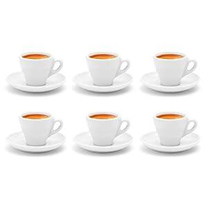 Luxpresso dickwandige Espressotassen »Italia«, weiß aus Porzellan - 6 Stück