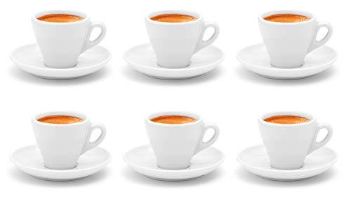 Business-Coffee Luxpresso dickwandige Espressotassen »Italia«, weiß aus Porzellan - 6 Stück