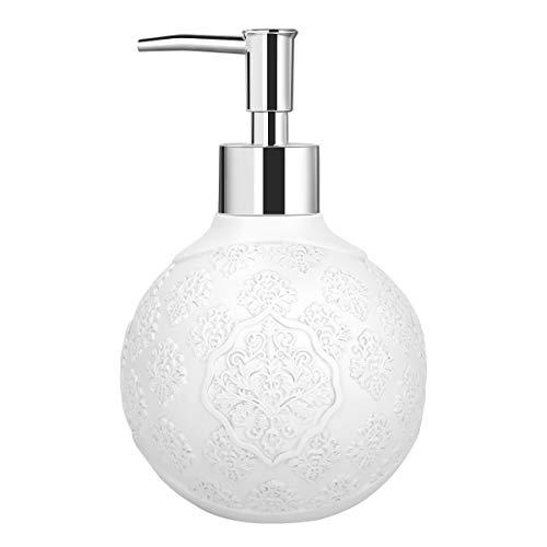 Dosificador de jabón de diseño con grabado decorativo con modelo Luxspire