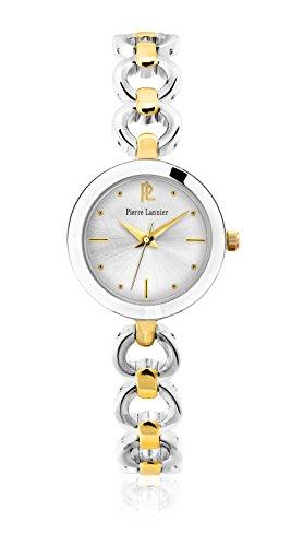 Pierre Lannier - 047J721 - Elegance Seduction - Montre Femme - Quartz Analogique - Cadran Argent - Bracelet Laiton Bicolore
