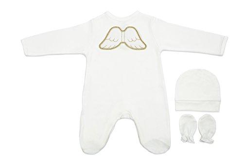 pamuku 3Stück Bio Baumwolle Baby Angel Layette Geschenk-Set