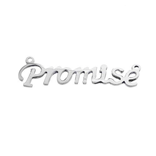 """HOUSWEETY 5 Pcs Connecteur Lettre Mot """"Dream"""" en Acier Inoxydable pour Creation de Bijoux promise"""