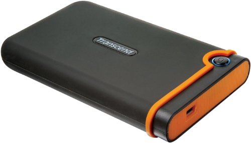 Transcend StoreJet 25M2 Anti-Shock 500 GB Externe Festplatte (6,4 cm (2,5 Zoll), USB 2.0) grau/orange
