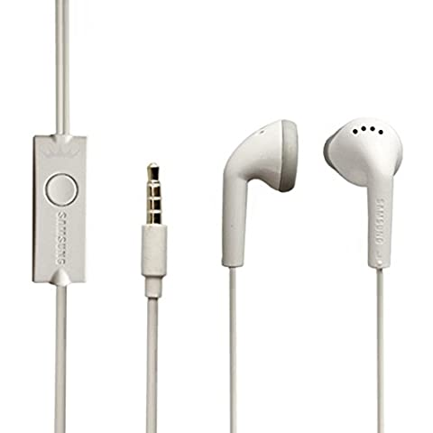 Original Samsung Headset - Handy Stereo Freisprecheinrichtung Kopfhörer in Weiß - mit Mikrofon und Anrufannahme für kompatible Modelle - (Bulk)