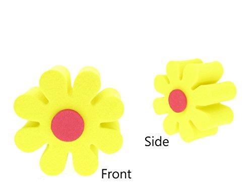 Antena Tops coche decoración antena/antena bola/espejo dangler, Amarillo (Yellow Daisy)