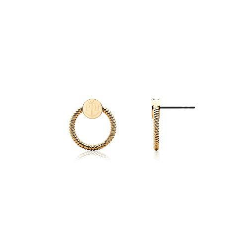 PAUL HEWITT Damen Ohrstecker Gold Rope Loop - Frauen Ohrringe vergoldet, Damen Ohrring Gold