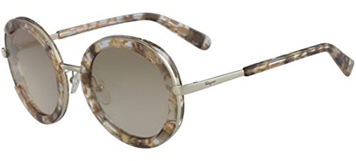 Salvatore ferragamo occhiali da sole sf 164s crystal brown marble/light grey shaded donna