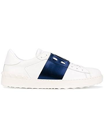 Valentino Garavani Herren Ny2s0830flr22b Weiss/Blau Leder Sneakers