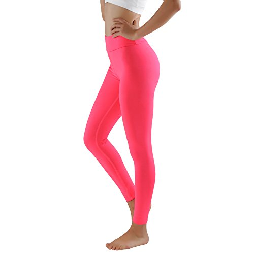 GoVIA Damen Laufhose mit eingearbeiteter Tasche Training Leggings Strech Fitness Sporthose 4106 pink L