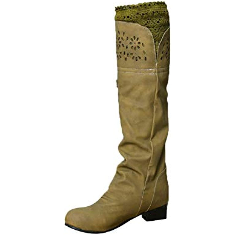 OSYARD Bottes Hautes Hiver Solide Femme Eclair Chaussures Cuissardes  Fermeture Eclair Femme Boucle Longue Grande Taille 8a4f14d152f5