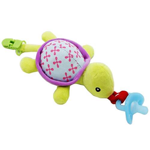 YiyiLai 25 * 15cm Cartoon Baby Spielzug Schnullerband Beißring Spielzug Schnullerkette Schnuller Beißring Halter Clip Schildkröte