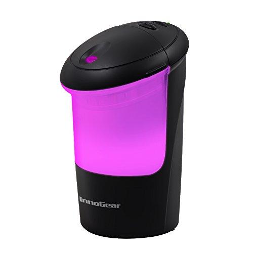 InnoGear - Difusor USB de aceite esencia para coche, aromaterapia, ambientador ultrasónico, con 7 luces LED de colores, para oficina, hogar, vehículo