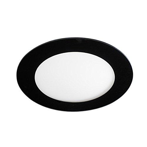 Wonderlamp Downlight led extraplano redondo con cristal decorativo negro. Driver incluido. Potencia:20W,...