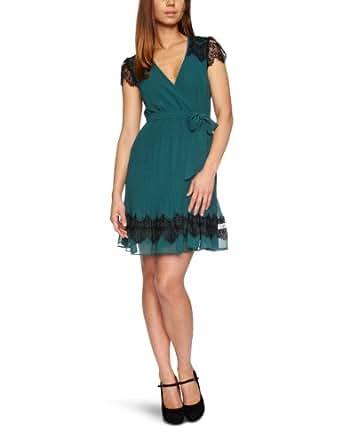 Darling Francesca Wrap Women's Dress Teal Size 16