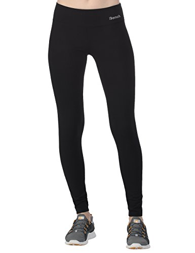 Bench Damen Leggings Baddah C, Jet Black, L, BLNF0037C