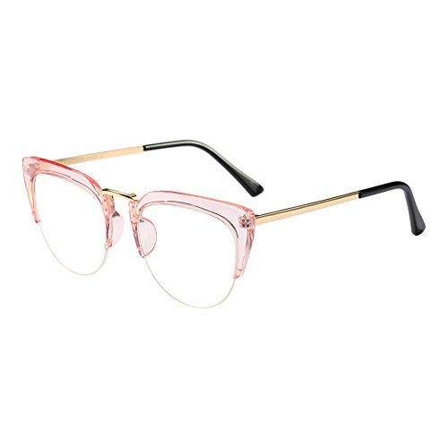 Deylaying Cat Eye Semi-Rimless Im Freien Brille Mode Klare Linse Brillen Halber Rahmen Zusammengesetzt Rahmen Retro Persönlichkeit Eyewear für Damen Mädchen