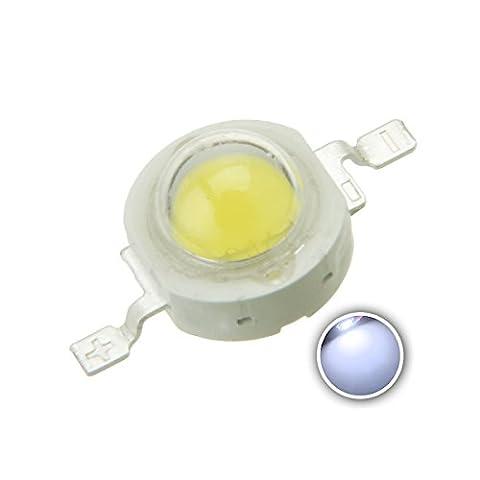Chanzon 10 pcs High Power Led Chip 3W Cool White (9000K-10000K / 600mA-700mA / DC 3V-3.4V / 3 Watt) Super Bright Intensity SMD COB Light Emitter Components Diode 3 W Bulb Lamp Beads DIY