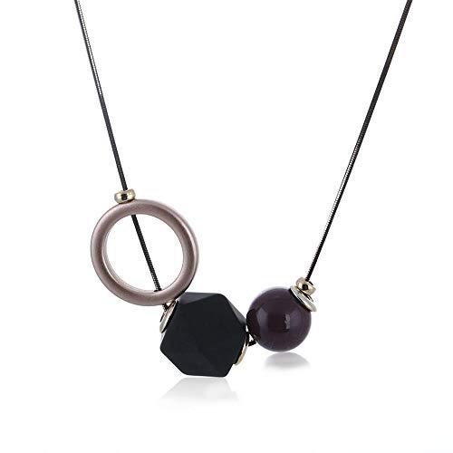 SSLL Halskette Frauen Pullover Halsketten & Anhänger Anweisung Lange Kostüm Halskette Mit Kunststoffkugeln Anhänger Schmuck
