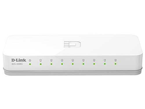 D-Link DES-1008C 10/100 Mbps Unmanaged Switch Network Switch