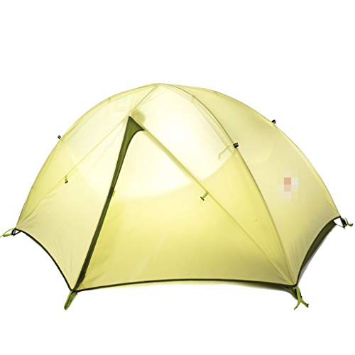 XJH-tunnelzelte Zelt im Freien Einzel Doppel Paar 2 Personen Camping Camping Angeln Verdickung Anti-Sturm Ultraleicht Pavillon Sonnencreme Schuppen Pop-up große Camping Zelt Kabine Strandzelt schnelle
