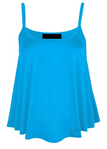 Get The Trend - Canotta - Gilet Top - Basic - Senza maniche  -  donna Turquoise Blue