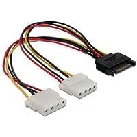 15cm Serial SATA Maschio a Dual IDE Molex Femmina HDD Cavo Convertitore Adattatore